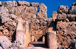 MALTA GOZO XAGHRA JUL00 - The ancient Stone Temples at Ggantija...jre/Photo by Jiri Rezac..© Jiri Rezac 2000..Tel:   +44 (0) 7050 110 417.Email: info@jirirezac.com.Web:   www.jirirezac.com