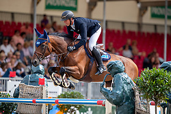 WILL David (GER), SPRING DARK<br /> Münster - Turnier der Sieger 2019<br /> Preis des EINRICHTUNGSHAUS OSTERMANN, WITTEN<br /> CSI4* - Int. Jumping competition  (1.45 m) - <br /> 1. Qualifikation Mittlere Tour<br /> Medium Tour<br /> 02. August 2019<br /> © www.sportfotos-lafrentz.de/Stefan Lafrentz
