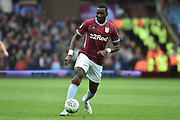 Aston Villa midfielder (on loan from Everton) Yannick Bolasie (11) sprints forward with the ball during the EFL Sky Bet Championship match between Aston Villa and Sheffield Wednesday at Villa Park, Birmingham, England on 22 September 2018.