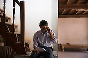 Gumphol Wongsuvan of the Melioidosis clinic follows up on the treatment plan of Mr Bunsri Mamak, 50. Mr Mamak just spent 13 days in ICU in Ubon's Provincial Hospital after contracting Melioidosis from his fields. He is diabetic and after the symptoms of Melioidosis were wrongly diagnosed at 3 different health clinics and local hospitals he was finally rushed to Sapphasit Prasong hospital that has a Melioidosis clinic and specialised laboratory where Mr Gumphol works.<br /> <br /> Melioidosis, though hardly heard of, is Thailand's third largest killer after AIDS and TB. Experts estimate that Melioidosis, caused by a shape-shifting bacteria that lives in water and soil, has 165,000 new cases world-wide a year and that more than half result in death. That means Melioidosis kills roughly the same number as measles or dengue across the globe. <br /> <br /> The bacteria is highly endemic in Northeast Thailand where around 2000 cases are reported per year and mostly from rice farmers who have regular contact with the soil. If not treated and the patients have other complications such a diabetes the mortality rate can be as high as 90% within 5 days.<br /> <br /> If a patient is treated, every case involves a minimum of 2 weeks in hospital followed by 20 weeks of antibiotic treatment and annual followups for the rest of their lives.<br /> <br /> Melioidosis, placed in the same microorganism grouping as anthrax by the US government, is a deadly neglected tropical disease that very few have even heard of.