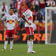 Tim Cahill, (left) and Thierry Henry, New York Red Bulls, after their side conceded a goal during the New York Red Bulls V Chicago Fire Major League Soccer regular season match at Red Bull Arena, Harrison. New Jersey. USA. 6th October 2012. Photo Tim Clayton