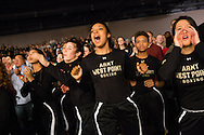 Army Cadets cheer during the Army-Navy Boxing Classic at the Pennsylvania Convention Center on Friday night before the long-time rivalry football game. The bouts featured boxers from both academy's boxing clubs. Army was the overall winner.