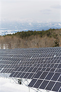 The Oguni solar power plant in Kitakata, Fukushima, Japan<br />