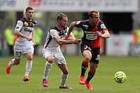 Kamil GROSICKI / Reynald LEMAITRE - 12.04.2015 - Rennes / Guingamp - 32eme journee de Ligue 1 <br />Photo : Vincent Michel / Icon Sport