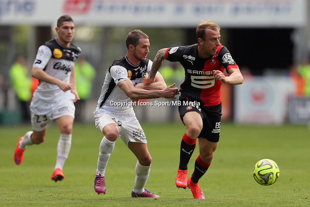 Kamil GROSICKI / Reynald LEMAITRE - 12.04.2015 - Rennes / Guingamp - 32eme journee de Ligue 1 <br />
