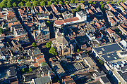 Nederland, Noord-Holland, Gemeente Purmerend, 13-06-2017; overzicht historisch centrum Purmerend, Koepelkerk.<br /> Purmerend, small city north of Amsterdam, historical market town.<br /> <br /> luchtfoto (toeslag op standard tarieven);<br /> aerial photo (additional fee required);<br /> copyright foto/photo Siebe Swart