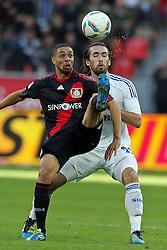 23.10.2011,  BayArena, Leverkusen, GER, 1.FBL, Bayer 04 Leverkusen vs Schalke 04, im Bild.Sidney Sam (Leverkusen #18) gegen Christian Fuchs (Schalke #23)..// during the 1.FBL, Bayer Leverkusen vs Schalke 04 on 2011/10/23, BayArena, Leverkusen, Germany. EXPA Pictures © 2011, PhotoCredit: EXPA/ nph/  Mueller       ****** out of GER / CRO  / BEL ******