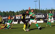 3.9.2017, Tapiolan Urheilupuisto, Espoo.<br /> Ykkönen 2017.<br /> FC Honka - Kokkolan Pallo-Veikot.<br /> Masar Ömer (Honka) v  Kim Ågren (KPV).