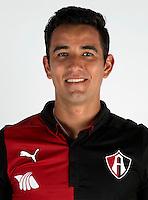 """Mexico League - BBVA Bancomer MX 2014-2015 -<br /> Rojinegros - Club Atlas de Guadalajara Fc / Mexico - <br /> Jesus Roberto Chavez Guzman """" Jesus Chavez """""""