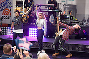 """Photos of The Band Perry performing live on stage for NBC's """"Today"""" at Rockefeller Plaza, NYC on April 27, 2016. © Matthew Eisman. All Rights Reserved"""