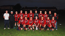 Westport Utd U16's Mayo League Winners after their 4-0 win over Claremorris on Monday evening...Pic Conor McKeown