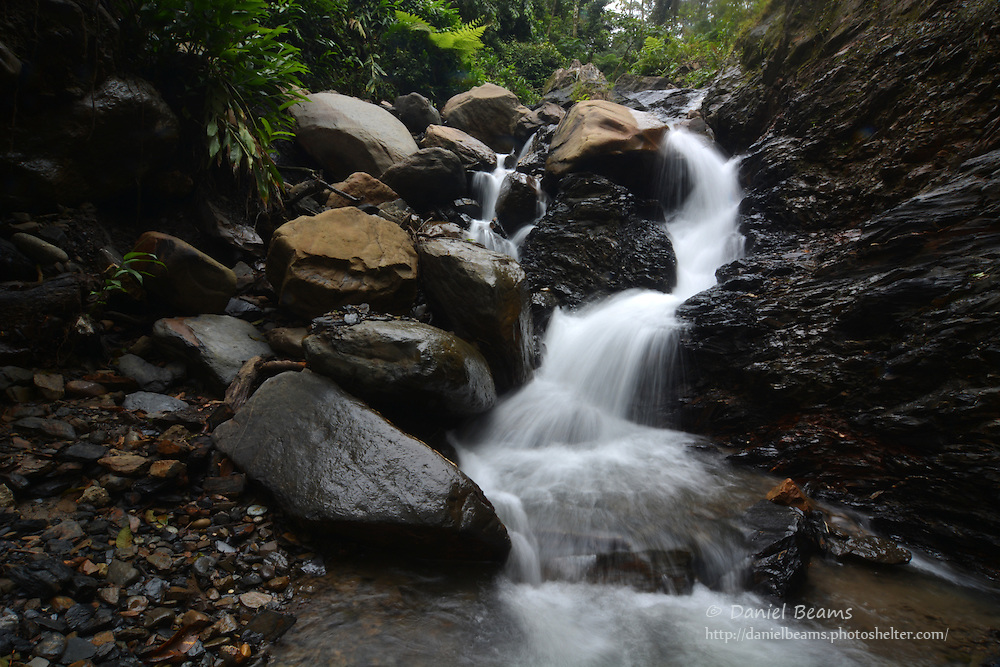 Cascading water falls near the Espiritu Santo River
