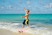 Boy surfing, Kailua Beach, Oahu, Hawaii