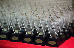 Trophies during Slovenian Disabled Sports personality of the year 2015 event, on December 8, 2015 in Austria Trend Hotel, Ljubljana, Slovenia. Photo by Vid Ponikvar / Sportida