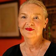 Jadwiga Staniszkis polish sociologist in her home in Podkowa Lesna