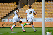 Nikica Jelavić celebrates scoring penalty during the Sky Bet Championship match between Wolverhampton Wanderers and Hull City at Molineux, Wolverhampton, England on 16 August 2015. Photo by Alan Franklin.