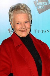Judi Dench nominated  best leading actress for the Oscars 2014.<br /> Dame Judi Dench arriving at the opening of the Somerset House ice rink, Monday, 21st November  2011. Photo by: i-Images
