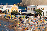 Crowds on Elli Beach, Rhodes Town, Rhodes, Dodecanese Islands, Greece