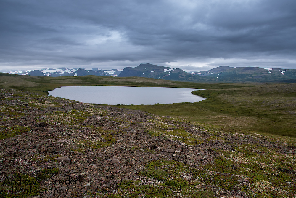An arctic lake in the Alaska landscape - Katmai, Alaska