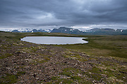An arctic lake in the Alaska landscape - Katmai, Alaska