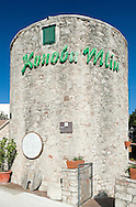 Konoba Mlin, an 18th century windmill, now a restaurant in Bol, on the island of Brac, Croatia