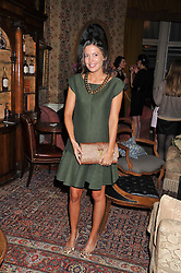 AMANDA FERRY at a dinner hosted by Edward Taylor and Alexandra Meyers in association with Johnnie Walker Blue Label held at Mark's Club, 46 Charles Street, London W1 on 26th April 2012.