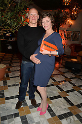 PICTURE SHOWS:-DOMINIC BURNS and CAMILLA RUTHERFORD.<br /> Tuesday 14th April 2015 saw a host of London influencers and VIP faces gather together to celebrate the launch of The Ivy Chelsea Garden. Live entertainment was provided by jazz-trio The Blind Tigers, whilst guests enjoyed Moët & Chandon Champagne, alongside a series of delicious canapés created by the restaurant's Executive Chef, Sean Burbidge.<br /> The evening showcased The Ivy Chelsea Garden to two hundred VIPs and Chelsea<br /> residents, inviting guests to preview the restaurant and gardens which marry<br /> approachable sophistication and familiar luxury with an underlying feeling of glamour and theatre. The Ivy Chelsea Garden's interiors have been designed by Martin Brudnizki Design Studio, and cleverly combine vintage with luxury, resulting in a space that is both alluring and down-to-earth.