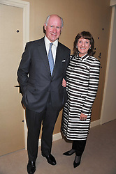 MR & MRS CHARLES HANSARD at a preview evening of the annual London LAPADA (The Association of Art & Antiques Dealers) antiques Fair held in Berkeley Square, London on 20th September 2011.