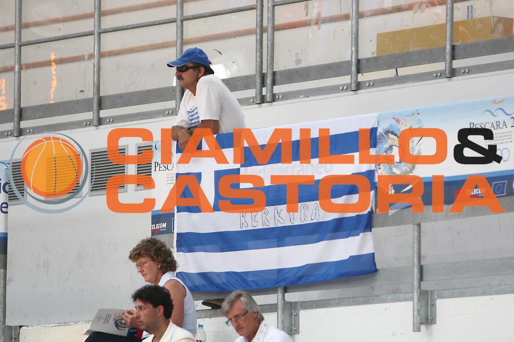 DESCRIZIONE : Roseto Giochi del Mediterraneo 2009 Mediterranean Games Grecia Greece Serbia<br /> GIOCATORE : supporter<br /> SQUADRA : Grecia Greece<br /> EVENTO : Roseto Giochi del Mediterraneo 2009<br /> GARA : Grecia Greece Serbia<br /> DATA : 28/06/2009<br /> CATEGORIA : supporter<br /> SPORT : Pallacanestro<br /> AUTORE : Agenzia Ciamillo-Castoria/C.De Massis