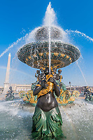place de la concorde fountain in the city of Paris in france