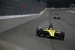 August 19, 2018 - Long Pond, Pennsylvania, United Stated - SEBASTIEN BOURDAIS (18) of France battles for position during the ABC Supply 500 at Pocono Raceway in Long Pond, Pennsylvania. (Credit Image: © Justin R. Noe Asp Inc/ASP via ZUMA Wire)