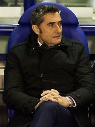 January 10, 2019 - Valencia, Valencia, Spain - Ernesto Valverde of FC Barcelona during the Spanish Copa del Rey match between Levante and Barcelona at Ciutat de Valencia Stadium on Jenuary 10, 2019 in Valencia, Spain. (Credit Image: © Maria Jose Segovia/NurPhoto via ZUMA Press)