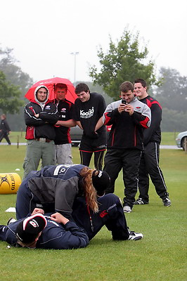 Saracens Premier Rugby Master Class, held at Old Albanians RFC. Tuesday 21-8-07.
