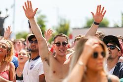 Fans watch outside as England play against Panama - Ryan Hiscott/JMP - 24/06/18 - Ashton Gate - Bristol, England - Fans Visit the World Cup Village at Ashton Gate for the England v Panama Group Match, Ashton Gate