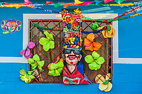 Barranquilla , Colombia  - February 25, 2017 : house decorated designed for the carnival festival of  Barranquilla Atlantico Colombia