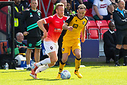 Salford City forward Adam Rooney in action during the EFL Sky Bet League 2 match between Salford City and Port Vale at Moor Lane, Salford, United Kingdom on 17 August 2019.