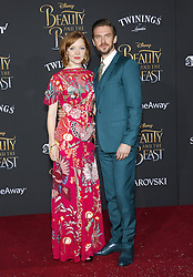 Susie Hariet and Dan Stevens at the Los Angeles premiere of 'Beauty And The Beast' held at the El Capitan Theatre in Hollywood, USA on March 2, 2017.