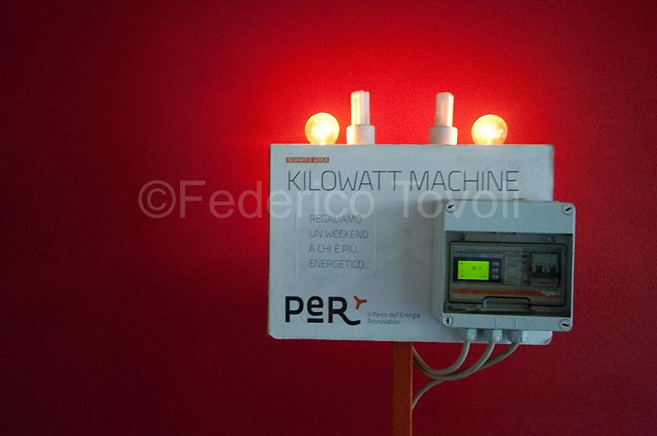 The kilowatt machine is an educational trick