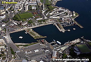 aerial photograph of the Port of Plymouth   Plymouth Devon , England UK