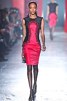 Jourdan Dunn walks down runway for F2012 Jason Wu's collection in Mercedes Benz fashion week in New York on Feb 10, 2012 NYC