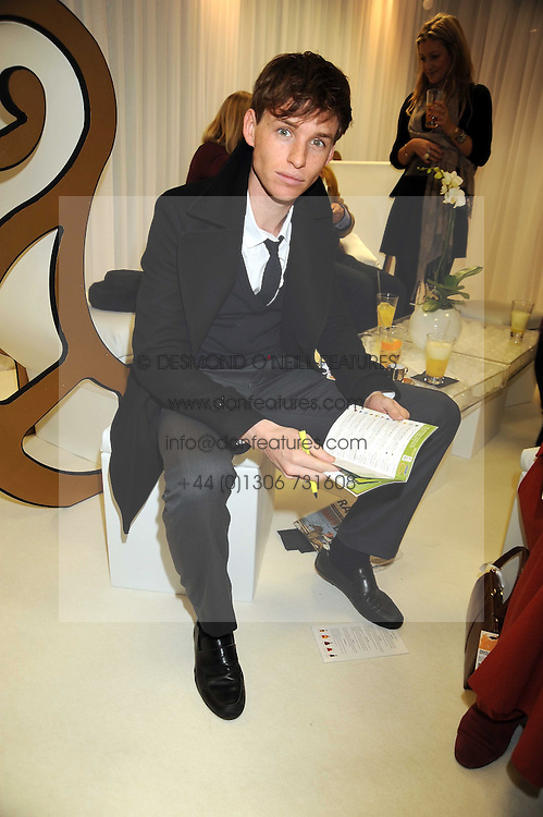 Actor EDDIE REDMAYNE at the 2008 Hennessy Gold Cup held at Newbury racecourse, Berkshire on 29th November 2008.<br /> <br /> NON EXCLUSIVE - WORLD RIGHTS