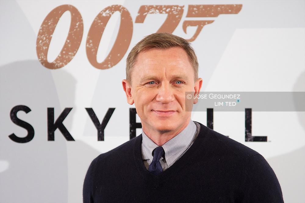 Actor Daniel Craig attends the 'Skyfall' photocall at Villamagna hotel on October 28, 2012 in Madrid