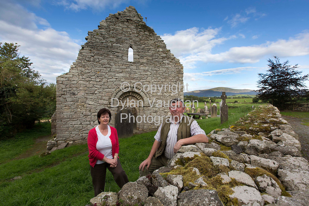 22/8/2012.Eddie and Catherine Ryan pictured at Ullard Church near Graiguenmanagh in County Kilkenny.. .Picture Dylan Vaughan