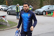 AFC Wimbledon striker Andy Barcham (17) arriving during the EFL Sky Bet League 1 match between AFC Wimbledon and Rochdale at the Cherry Red Records Stadium, Kingston, England on 8 December 2018.