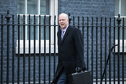© Licensed to London News Pictures. 10/01/2017. London, UK. Transport Secretary Chris Grayling arrives on Downing Street ahead of the weekly Cabinet meeting. Photo credit: Rob Pinney/LNP