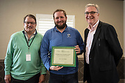 The E.W. Scripps School of Journalism hands out certificates to the participants of the Kiplinger Program in Public Affairs Journalism on April 12, 2019 at the OU Inn. Photo by Hannah Ruhoff