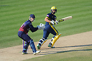 Rilee Rossouw of Hampshire batting during the Royal London One Day Cup semi-final match between Hampshire County Cricket Club and Lancashire County Cricket Club at the Ageas Bowl, Southampton, United Kingdom on 12 May 2019.