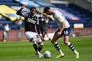 Jayden Bogle (37) of Derby County FC on the attack during the EFL Sky Bet Championship match between Preston North End and Derby County at Deepdale, Preston, England on 1 July 2020.