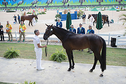 Laghouag Karim Florent, FRA, Entebbe De Hus<br /> Final Horse inspection Eventing<br /> Olympic Games Rio 2016<br /> © Hippo Foto - Dirk Caremans<br /> 09/08/16