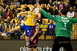 Tilen Kodrin of RK Celje Pivovarna Lasko during handball match between RK Celje Pivovarna Lasko (SLO) and HBC Nantes (FRA) in Group phase of VELUX EHF Men's Champions League 2018/19, December 2, 2018 in Arena Zlatorog, Celje, Slovenia. Photo by Urban Urbanc / Sportida